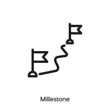 milestone icon. milestone  vector symbol. Linear style sign for mobile concept and web design. milestone  symbol illustration. Pixel vector graphics - Vector