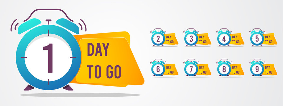 set of number days left countdown vector illustration template, can be use for promotion, sale, landing page, template, ui, web, mobile app, poster, banner, flyer
