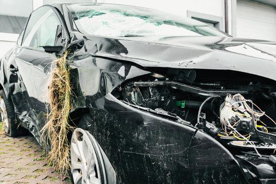 car crash broken car accident