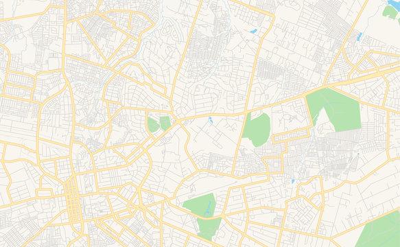 Printable street map of Lusaka, Zambia
