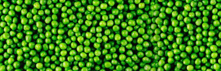 Fototapeta Background and texture of green peas. Panorama. obraz