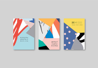 Poster Layouts with Abstract Background
