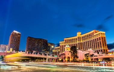 Foto op Canvas Las Vegas Intersection of the Las Vegas Strip and Flamingo Road