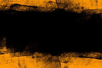 black and yellow hand painted brush grunge background texture