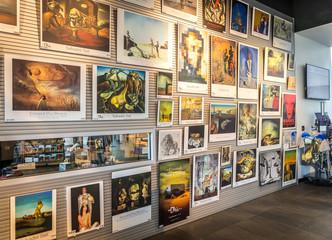 ST. PETERSBURG, FLORIDA - SEPTEMBER 2: Interior of shop in Salvador Dali Museum September 02, 2014 in St. Petersburg, FL.