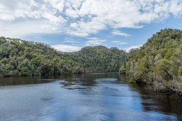 Tuinposter Rivier Gordon River West Coast Tasmania Australia