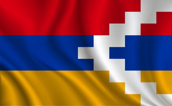 Artsakh Flag background
