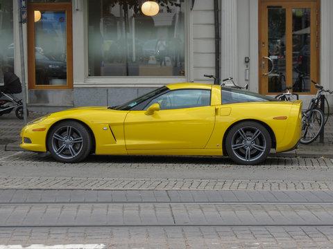 yellow Chevrolet Corvette car in Goteburg