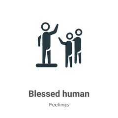 Blessed human vector icon on white background. Flat vector blessed human icon symbol sign from modern feelings collection for mobile concept and web apps design.