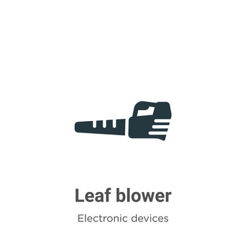 Leaf blower vector icon on white background. Flat vector leaf blower icon symbol sign from modern electronic devices collection for mobile concept and web apps design.