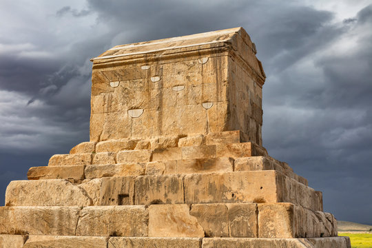 Tomb of Cyrus the Great, 6th century BC, Pasargadae, Fars Province, Iran