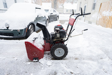 snowblower is ready to go to work