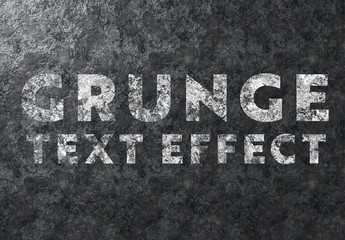 Grunge Text Effect on Metal Texture