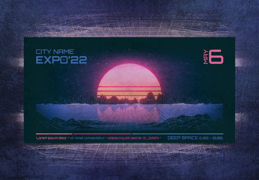 80s Retro Sci-Fi Flyer Layout