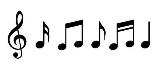 Musical notes icon. Vector illustration