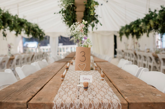 place number for wedding table decoration