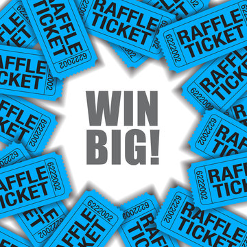 Win Big!  Is the theme of this graphic with space for text.