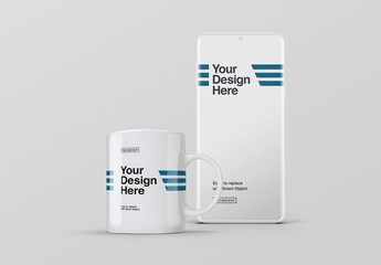 Smartphone and Mug Mockup