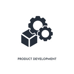 product development icon. simple element illustration. isolated trendy filled product development icon on white background. can be used for web, mobile, ui.