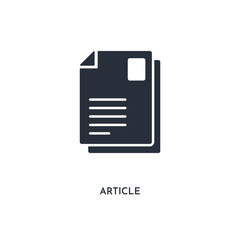 article icon. simple element illustration. isolated trendy filled article icon on white background. can be used for web, mobile, ui.
