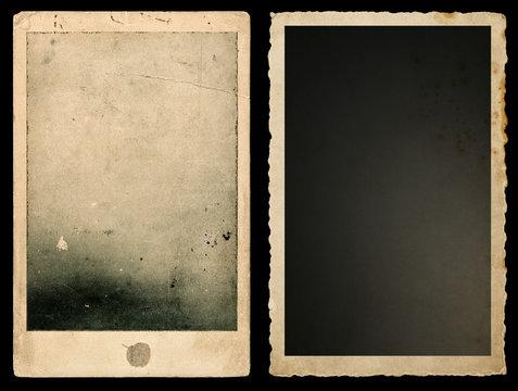 Old paper photo frames Used vintage cardboard
