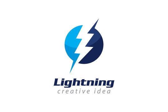 Creative Electrical Concept Logo Design Template