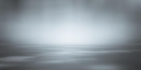 Wall Mural - soft gray studio room background, grey floor backdrop with spotlight.