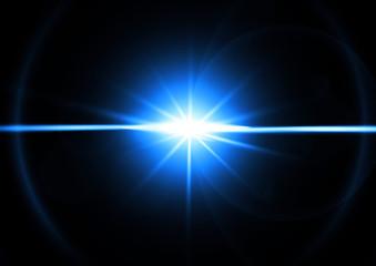 青い光線 Fotobehang