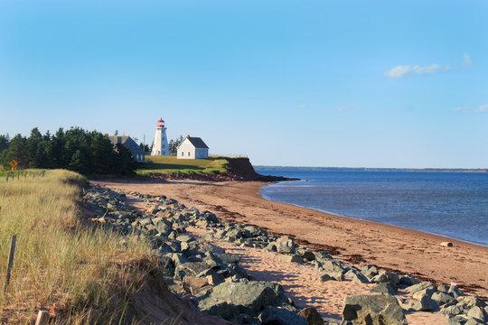 Panmure Island lighthouse in Prince Edward Island, Canada