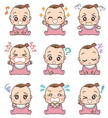 赤ちゃん イラスト かわいい セット