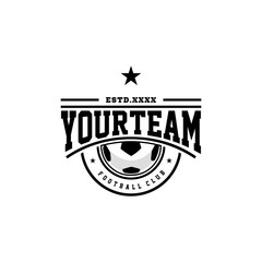 Football club logo design vector illustration