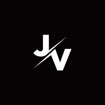JV Logo Letter Monogram Slash with Modern logo designs template