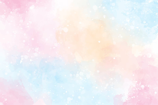 pink  multi color sweet candy valentines wet wash splash watercolor background eps10 vectors illustration