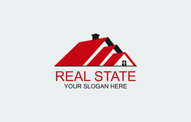 Real estate logo concept  for business. House, Home and hotel type illustration