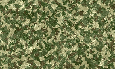 Camouflage military texture background covered with water