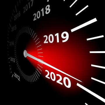 Calendar date of the New Year 2020