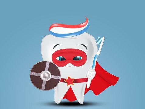 superhero tooth