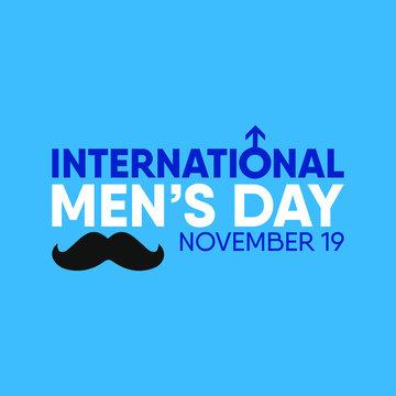 Vector illustration on the theme of International Men's day on November 19th.