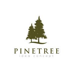 Pines Tree Logo Design Template