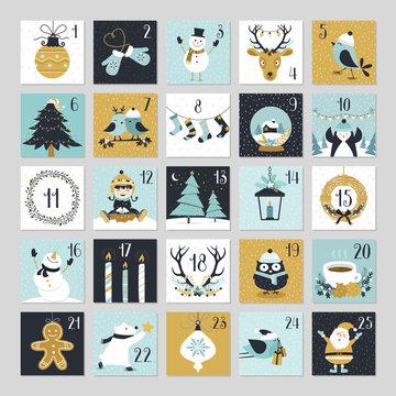 Cute Christmas Countdown Advent Calendar
