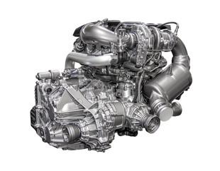Powerful engine of a modern car