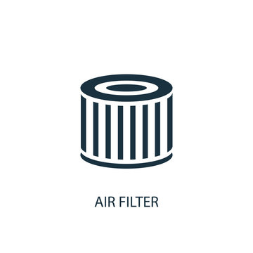air filter icon. Simple element illustration