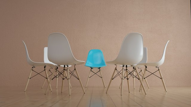 Chairs placed for group therapy.