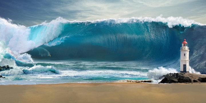 Tsunami big wave