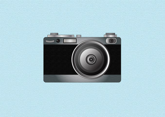 vintage camera isolated on white background