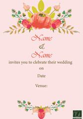 Invitation E card Template