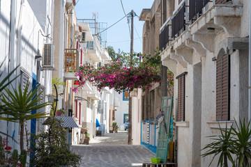 Kardamena city street in Kos island, Greece.