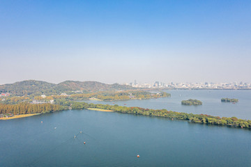 hangzhou west lake during autumn