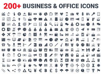 Business, office, finance icons set. - fototapety na wymiar