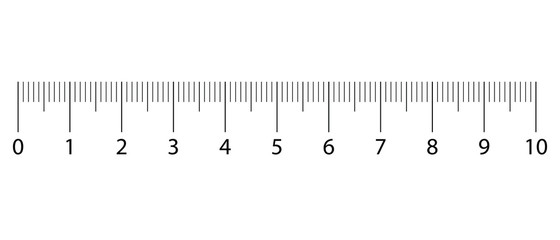Original Centimetre Ruler. Measuring tool, Graduation grid, flat vector illustration. Size indicator units, Measure tape isolated on background.